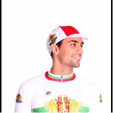 Колоездачна шапка Долчини, Шампион, Бял/Червен