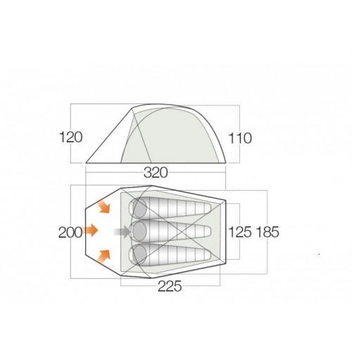 Палатка VANGO Mirage 300 Pro